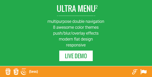 Ultra Menu 2 - responsive double sided sliding navigation