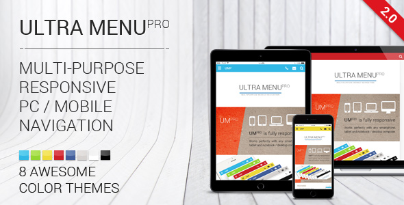 Ultra Menu PRO - responsive sliding navigation